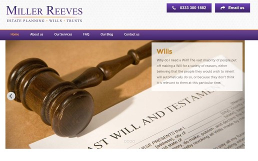 Miller Reeves Website Screenshot